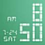icon LED Clock Widget (Std:White)