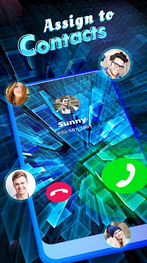 Kolorowy ekran wywołania - motywy ekranu rozmówcy telefonu