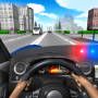 icon Police Driving In Car
