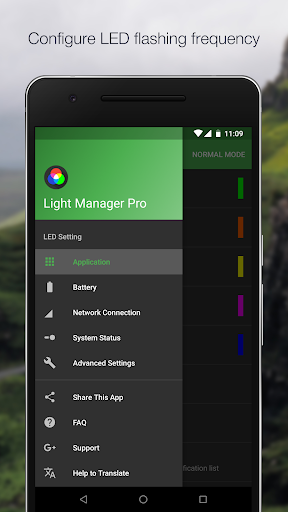 Light Manager - Ustawienia LED